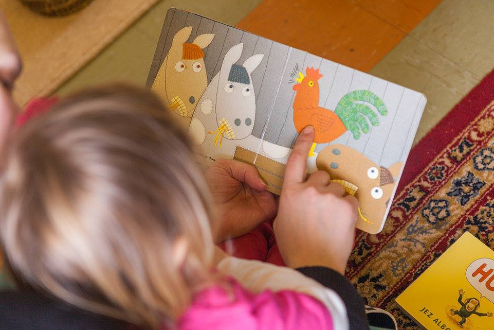 Montessori toddler reading