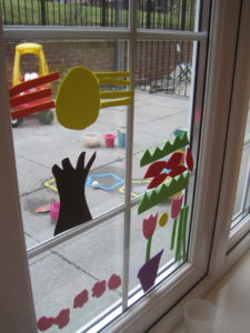 Spring Foam Window Decorations A Non Messy Open Ended Activity