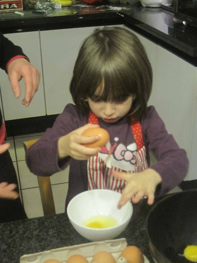 Montessori toddler baking
