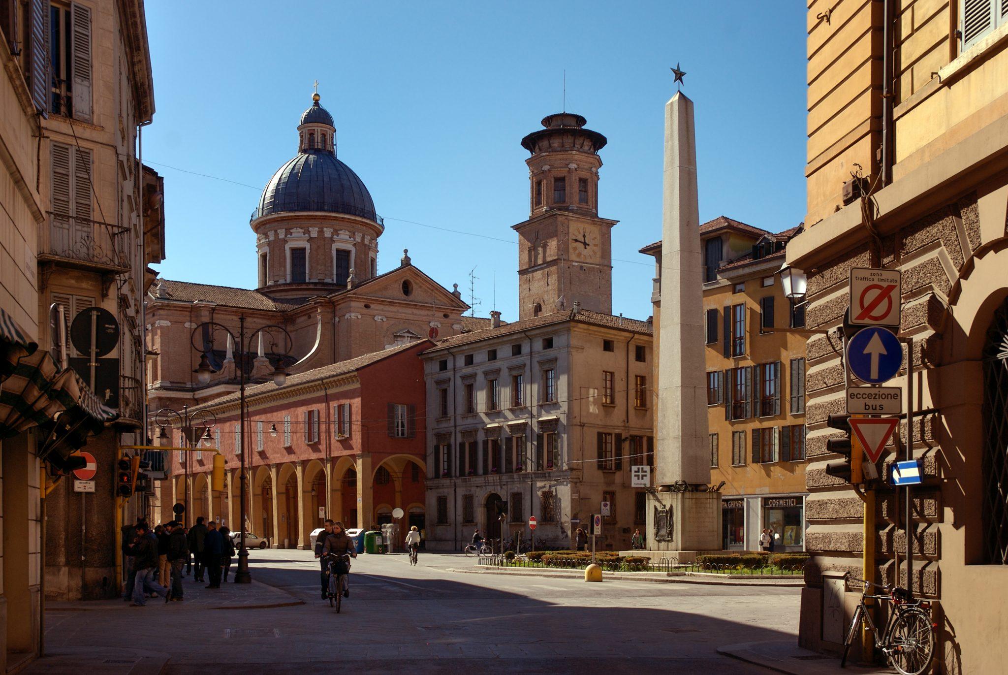 Reggio Emiliat street in Italy