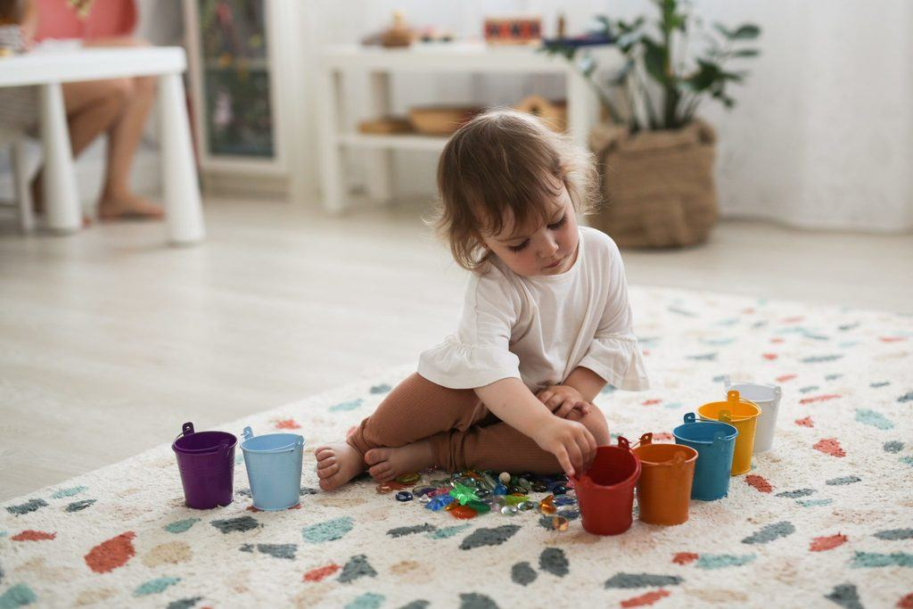 toddler Montessori play
