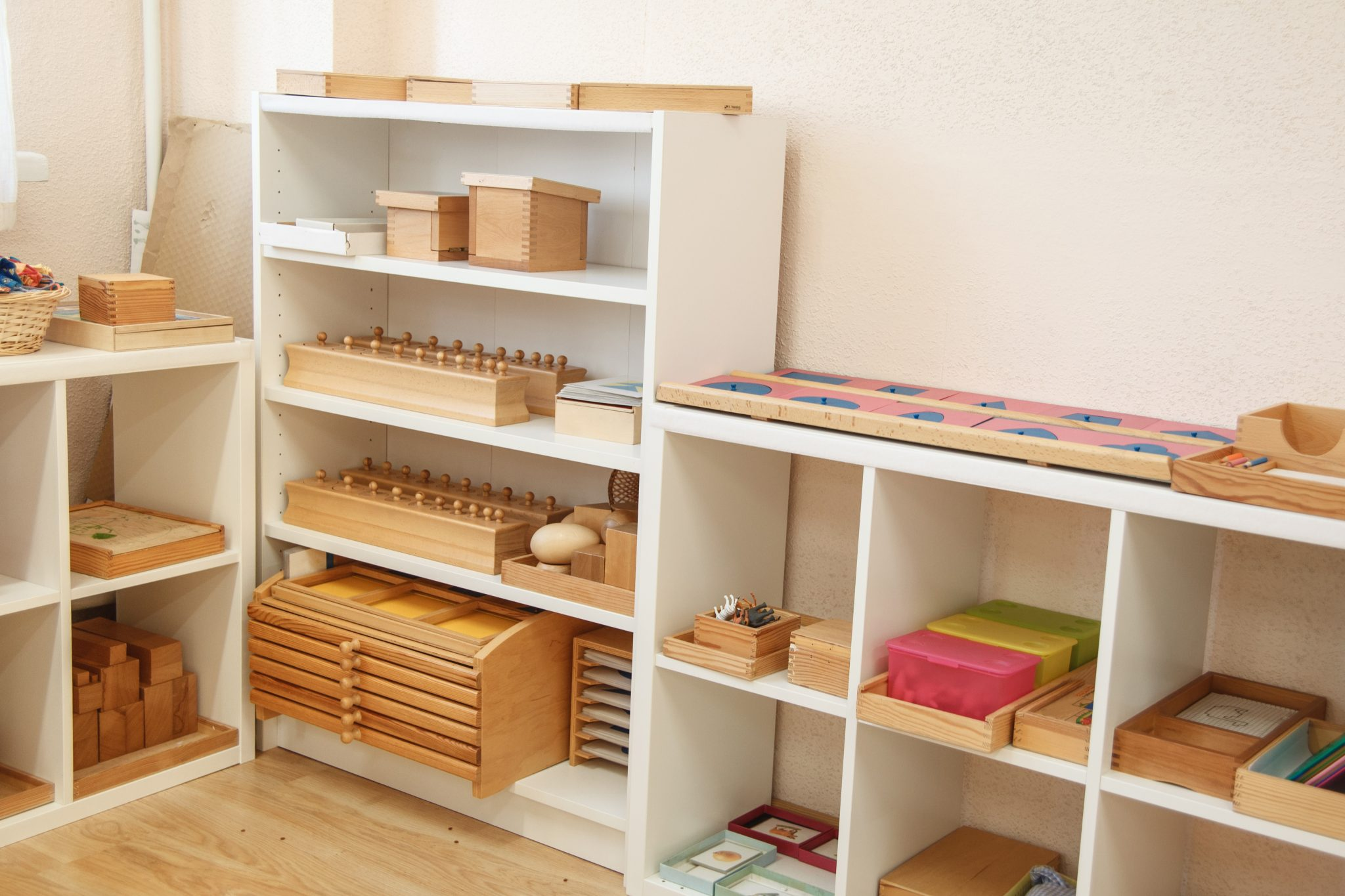 Montessori shelf work