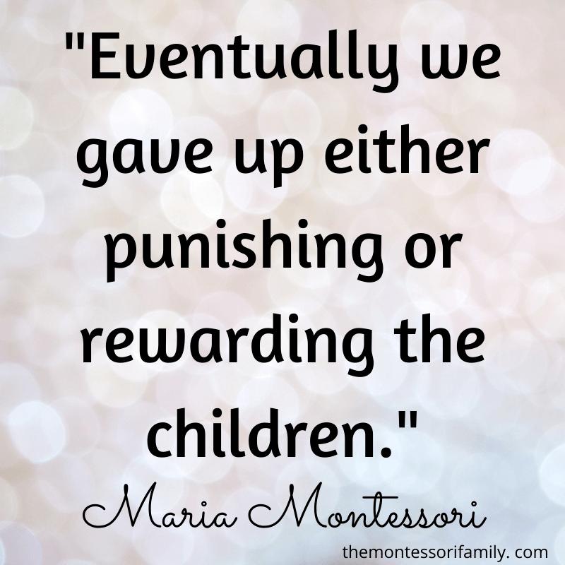 Montessori quote praise